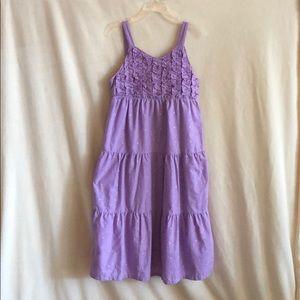 purple sundress, girls 10, 15$